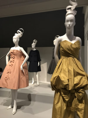 Yves Saint Laurent - Mascarade short evening dress (Left) and Climene dress 1959