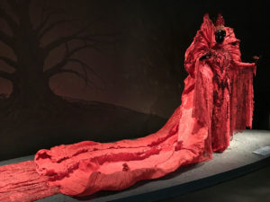 Red Goddess ensemble with train Guo Pei Legend collection