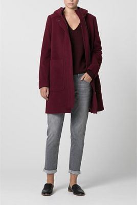 Winter style tips: this wool blend coat will keep you warm
