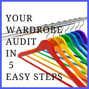A selection of coloured coat hangers for the blog Your Wardrobe Audit in 5 Easy Steps