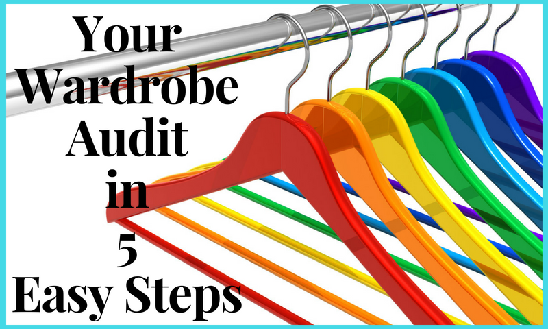Your Wardrobe Audit in 5 Easy Steps feature image showing colourful coat hangers