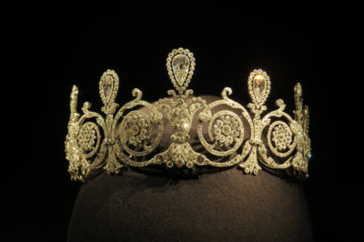 Cartier Tiara 1905 featuring 7 pear shaped diamonds