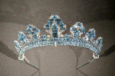 Cartier diamond and aquamarine tiara 1937
