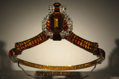 Cartier Tiara 1932: baguette-cut diamonds and emerald-cut citrines