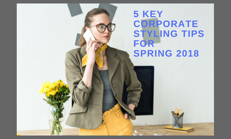 Business woman speaking on the phone. Feature image for article: 5 Key Corporate Styling Tips for Spring 2018