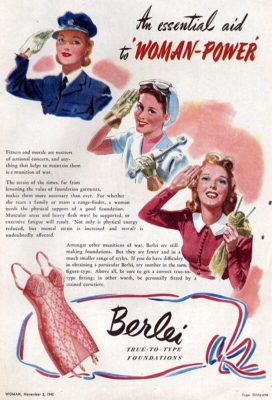 Underwear Essentials blog. 1942 advert for a Berlei girdle.