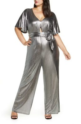 Shiny fabric draws attention to your tummy