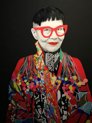 Portrait of Australian fashion designer, Jenny Kee.