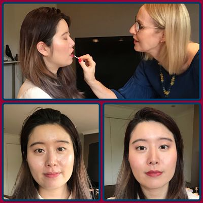 Before and after photos: makeup application