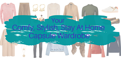 An assortment of women clothes that all coordinate together: a capsule wardrobe.