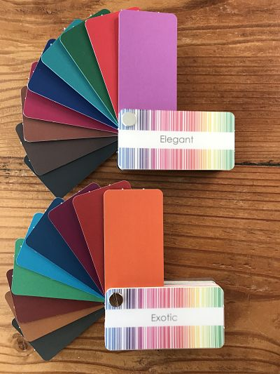 An assortment of warm and cool medium value colours that are perfect for looking great on video calls.
