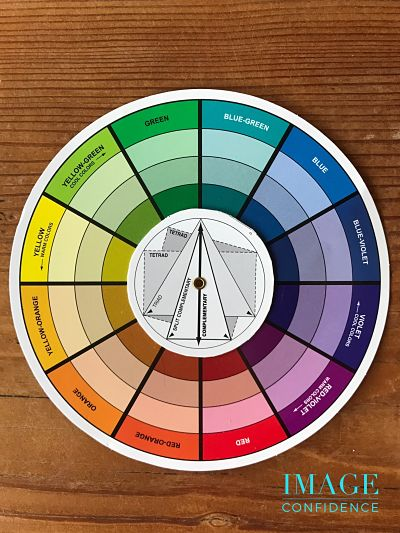 A photo of a colour wheel.