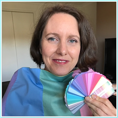 Woman after a colour consultation with her colour palette