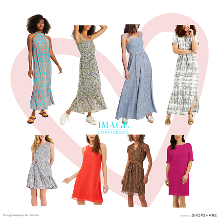 Long and short dresses to wear in spring and summer
